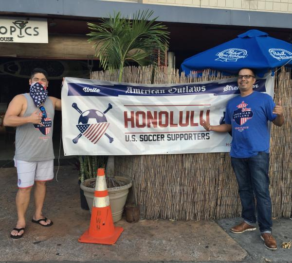 Watching the US Game with AO Honolulu