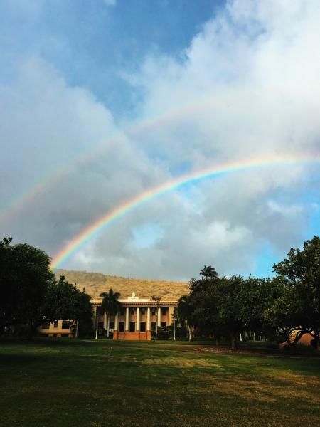 Double Rainbow Above Hawaii Hall